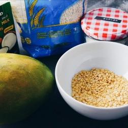 Zutaten für die tropische Nachspeise